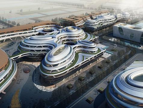 陕西西安唐大明宫国家遗址公园殿前区商业综合体